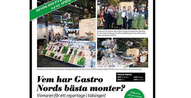 Tävla om att vinna Bästa monter Gastro Nord 2018