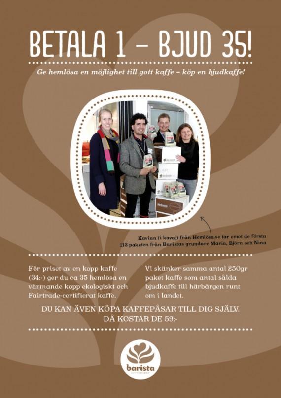Link to Gäster skänker 8.000 koppar Bjudkaffe till hemlösa