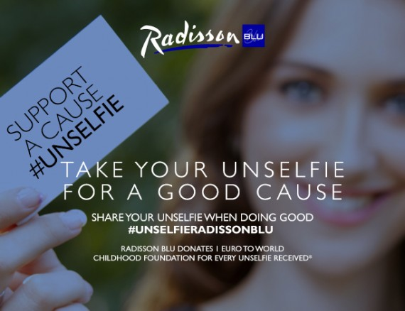 Link to Radisson ger pengar till World Childhood Foundation med #unselfie