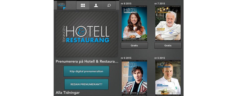 Nu finns tidningen Hotell & Restaurang som app.